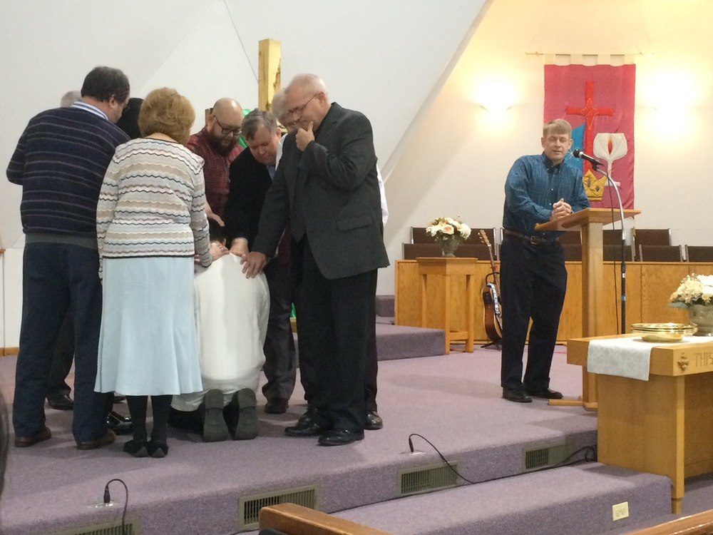 Ordination prayers led by church and community leaders