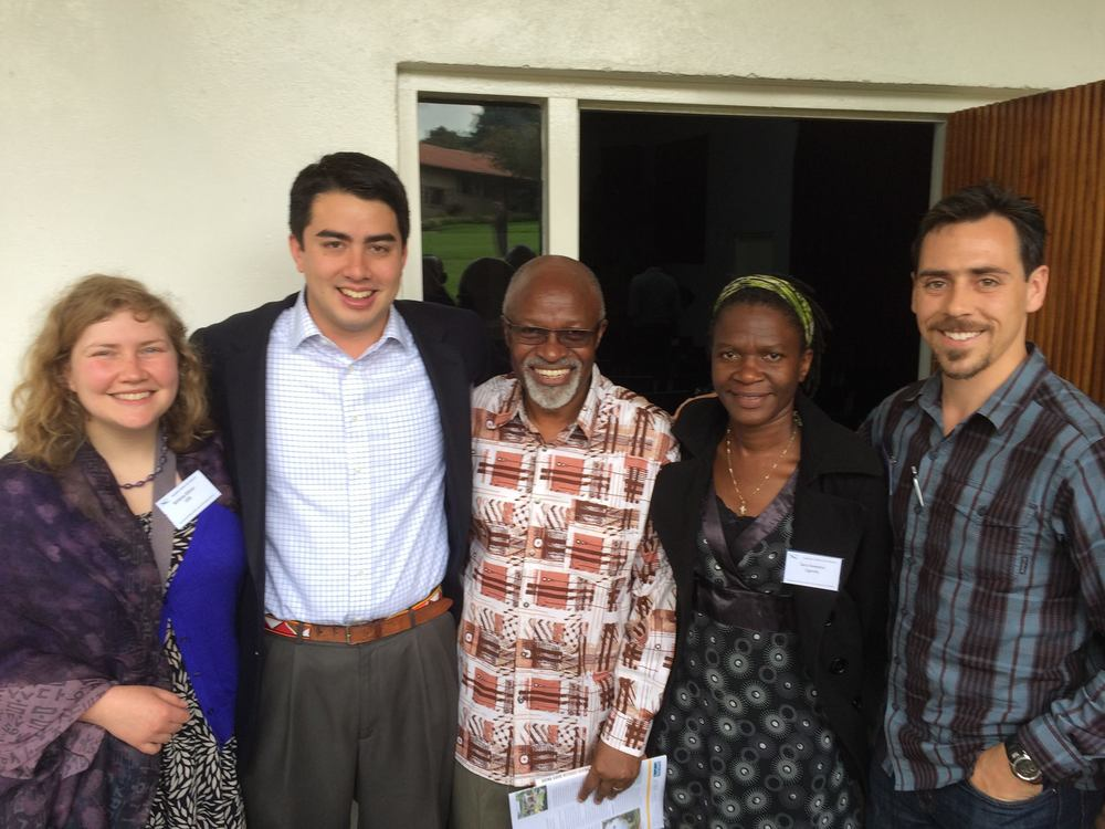 With Ugandan Bishop David Zac Niringiye (a fellow Wheaton alum!), Sara Kaweesa from A Rocha Uganda, as well as Andrew Kinzer and Brittany Ederer from the YECA Steering Committee