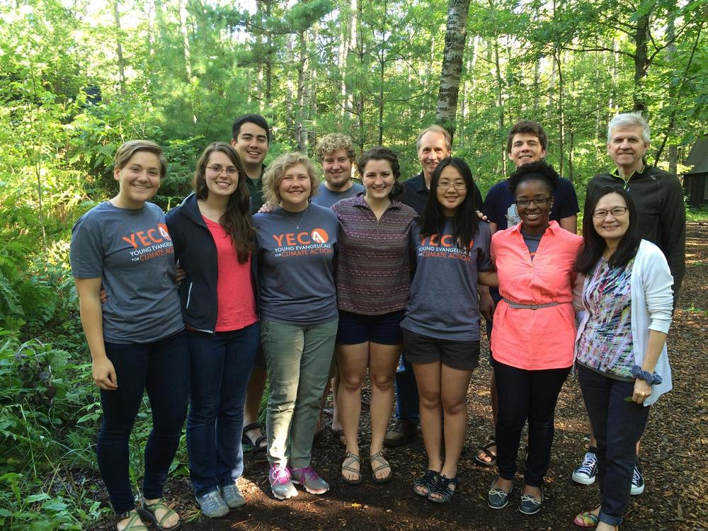 Our 2015-2016 Fellows along with Dr. Fred Van Dyke and the Norregaards at Au Sable