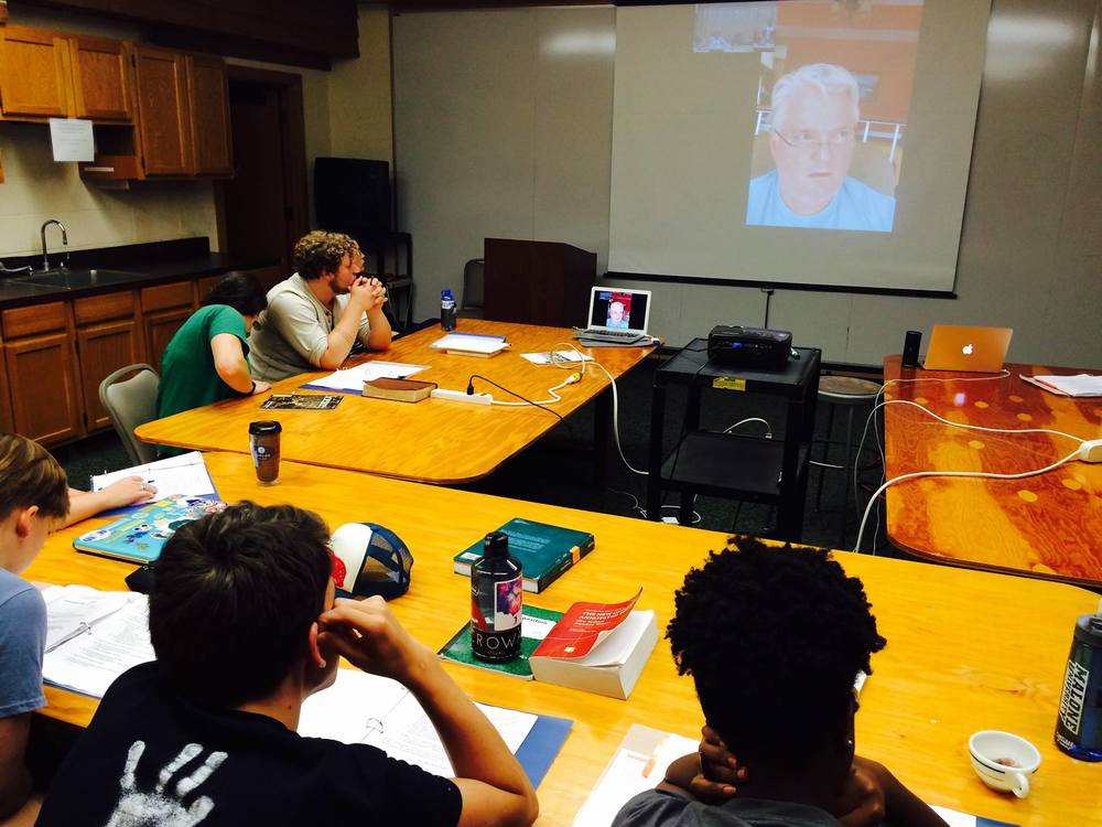 Learning from Rev. Dr. Jim Ball via Skype. Jim is a senior advisor for YECA and has been a pioneer in the evangelical response to climate change for years, spearheading both the Evangelical Climate Initiative and the What Would Jesus Drive tour