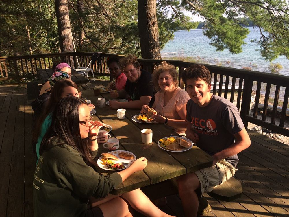 Lots of great food and fellowship on the shores of Big Twin Lake thanks to the Norregaards!