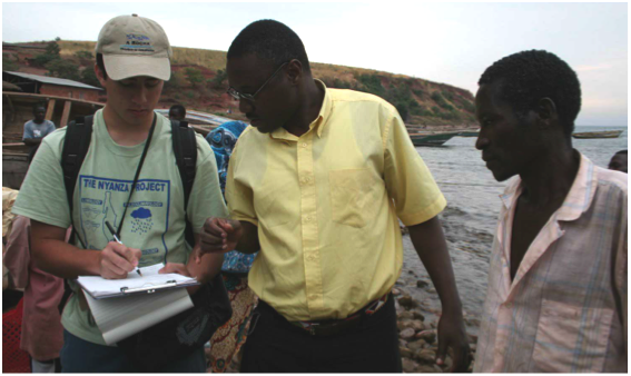 Researching on Lake Tanganyika a decade ago! Photo credit: Jennifer Schmidt