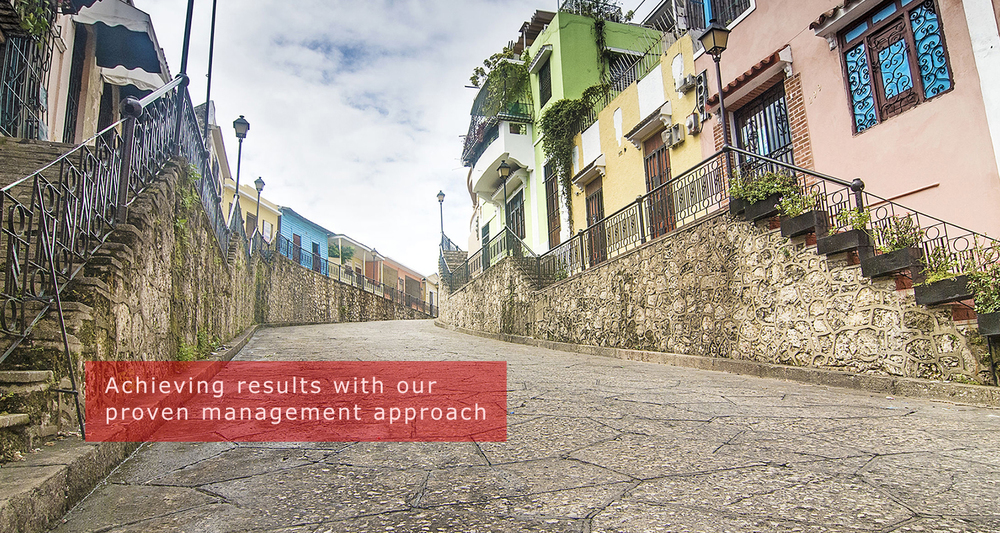 Achieving results with our proven management approach