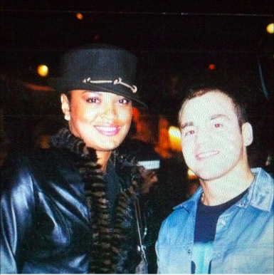 Nick Tetoros with Leela Ali, Muhammad Ali's daughter.