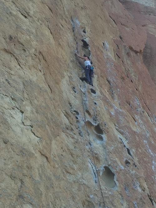 rock climbing at smith rock for fun
