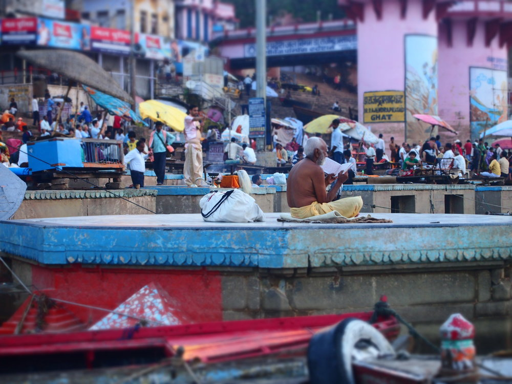 MORNING PRAYERS IN VARANASI