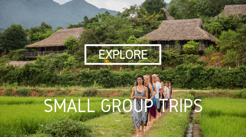small group tRIPS:  focus on culture + location, Each day starts with a wellness session allowing you to become a more conscious explorer