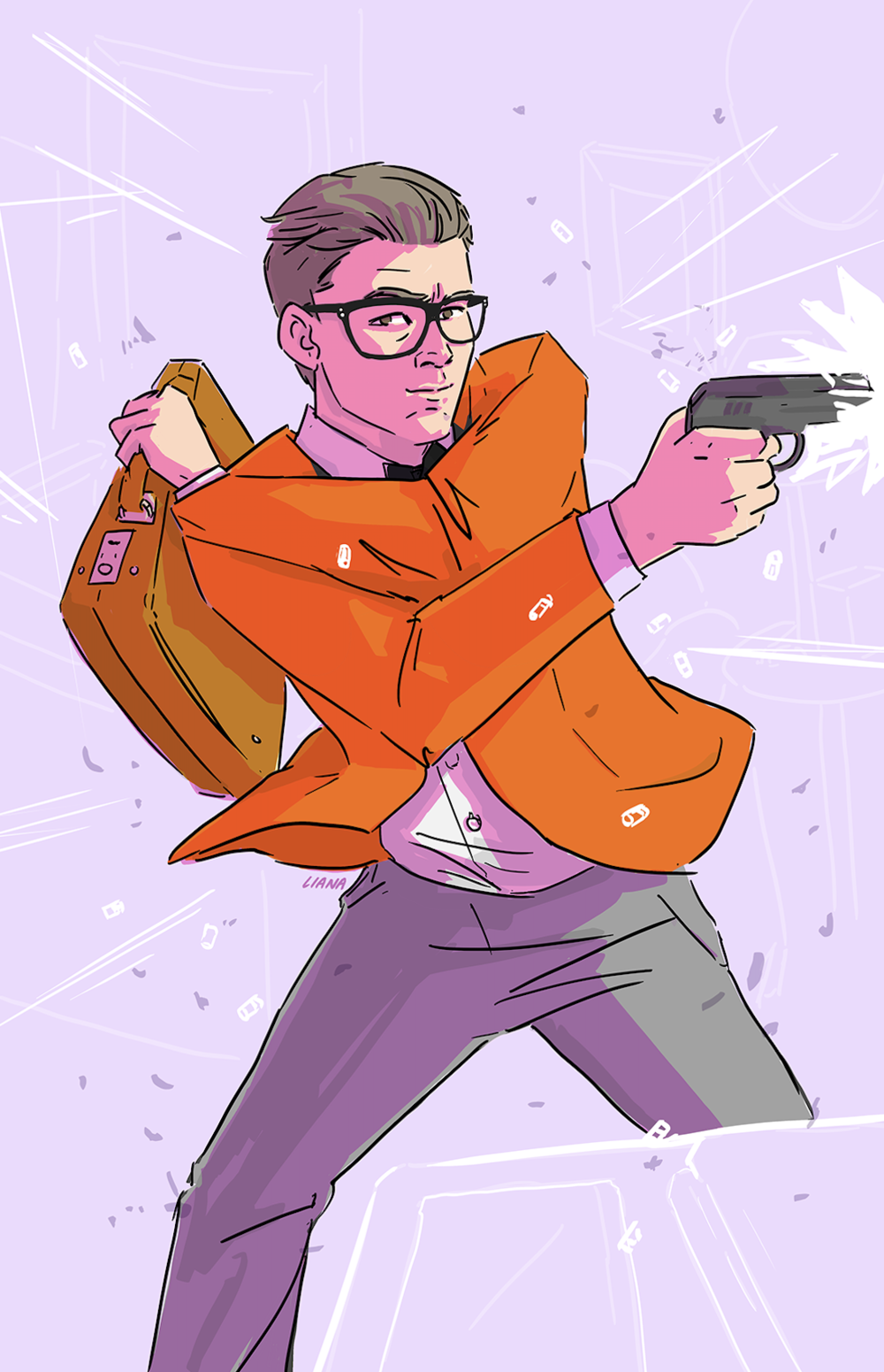 Eggsy Kingsman Illustration