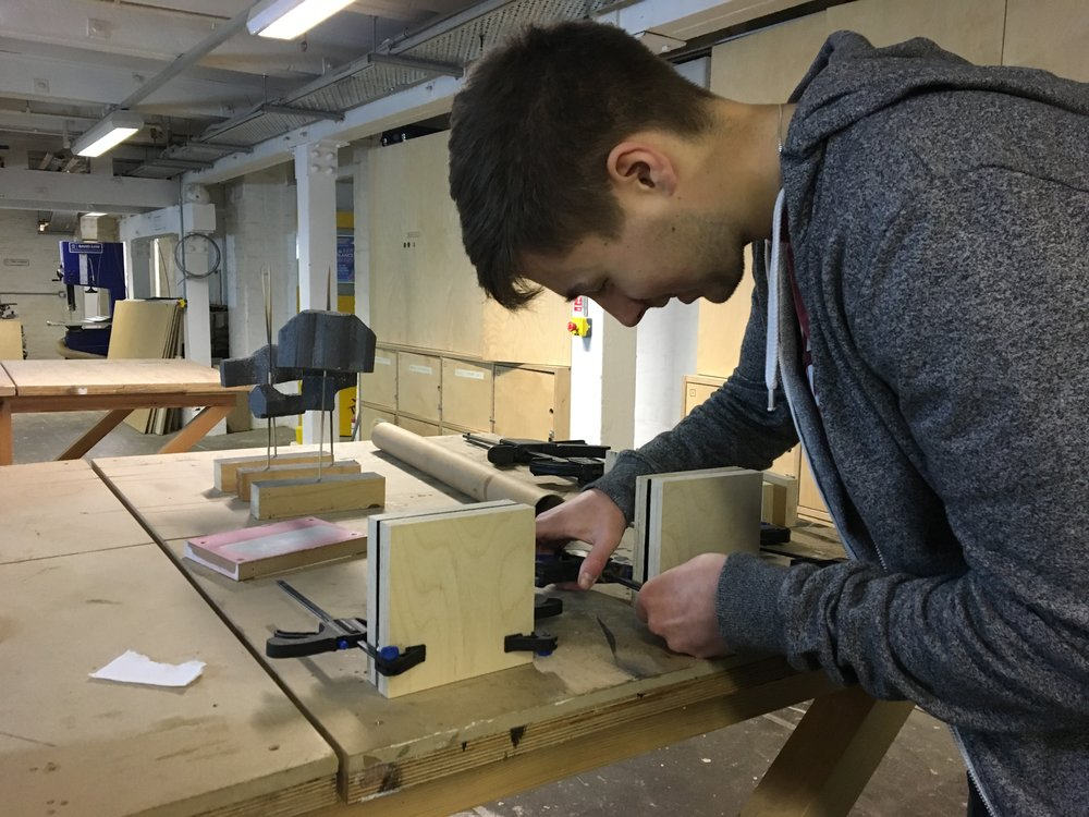 Ben doing some prototyping