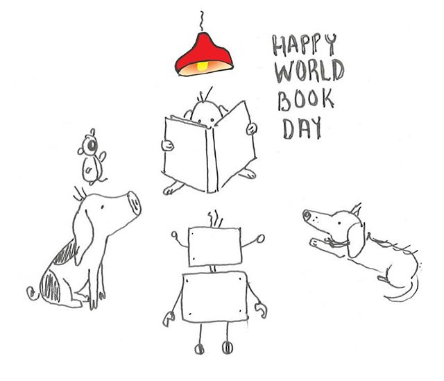 Happy World Book Day 📚#worldbookday #books #children #sketchbook #sketch #kidsbook #reading #book #doxie