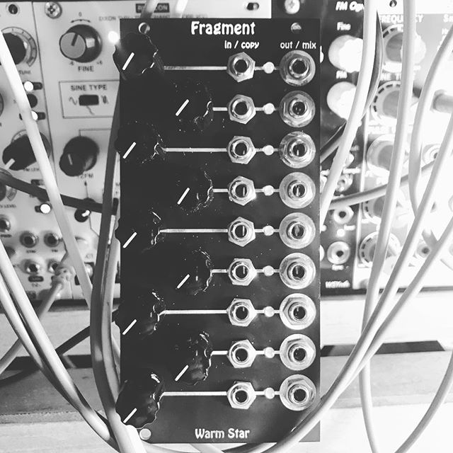 """coming soon from Warm Star ⭐️ Fragment ⭐️ 9 Channel Multi-Mixer ⭐️ """"Fragments"""" into the sizes you need ⭐️ No more wasted channels ⭐️ Other tricks still secret! #eurorack #modularsynth #electronica #newmodule"""