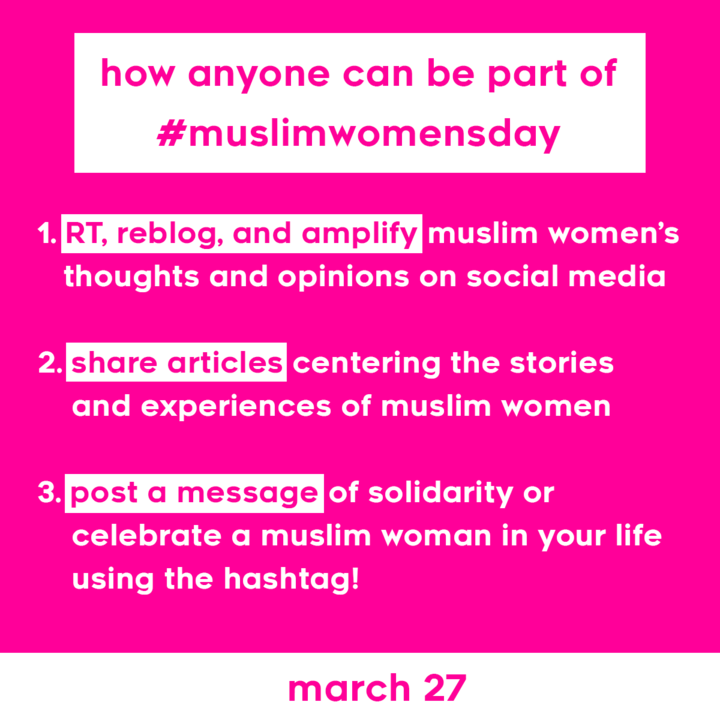 Muslim Women's Day Action Plan