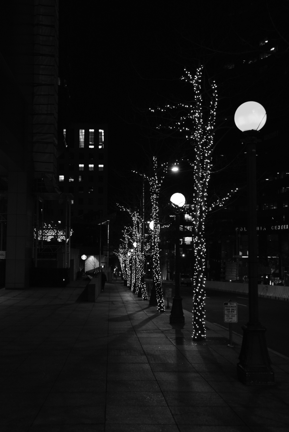 Downtown Seattle on New Years Eve. Photo By: Mikayla Kimery