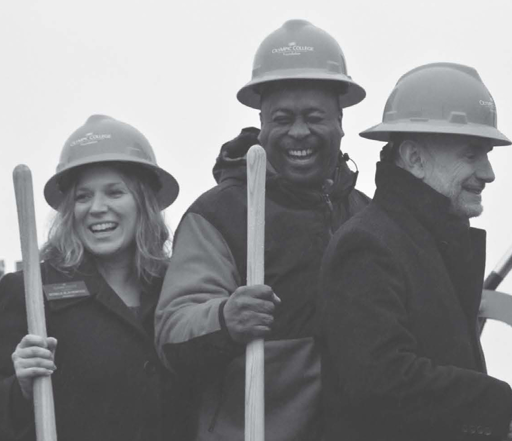 Drayton Jackson sharing a laugh at the ground Breaking Ceremony Photos Taken by Travis Phillips
