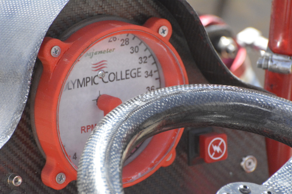 The Speedometer that the team made for the vehicle