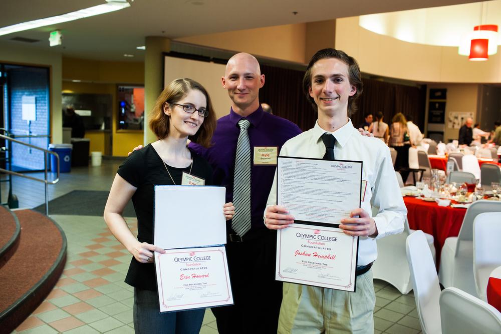Erin Howard(left), Kyle Broussard, Josh Hemphill(right)