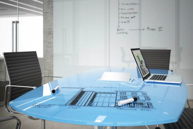 Workplace SolutionsConference Room Accessories - Blue conference table