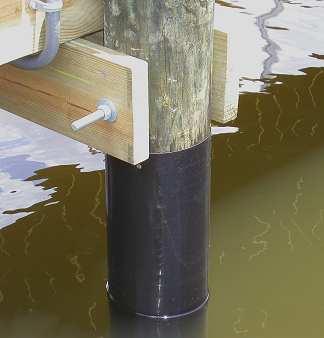 pile wrap dock piling hdpe