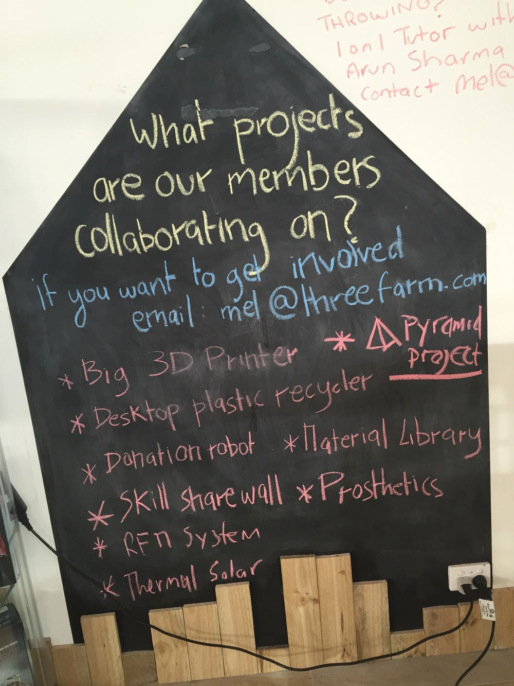 The project wall - this is where members find groups to join in with to learn and create collaboratively
