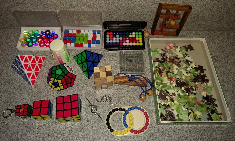 Variety of puzzles; photo from Wikipedia