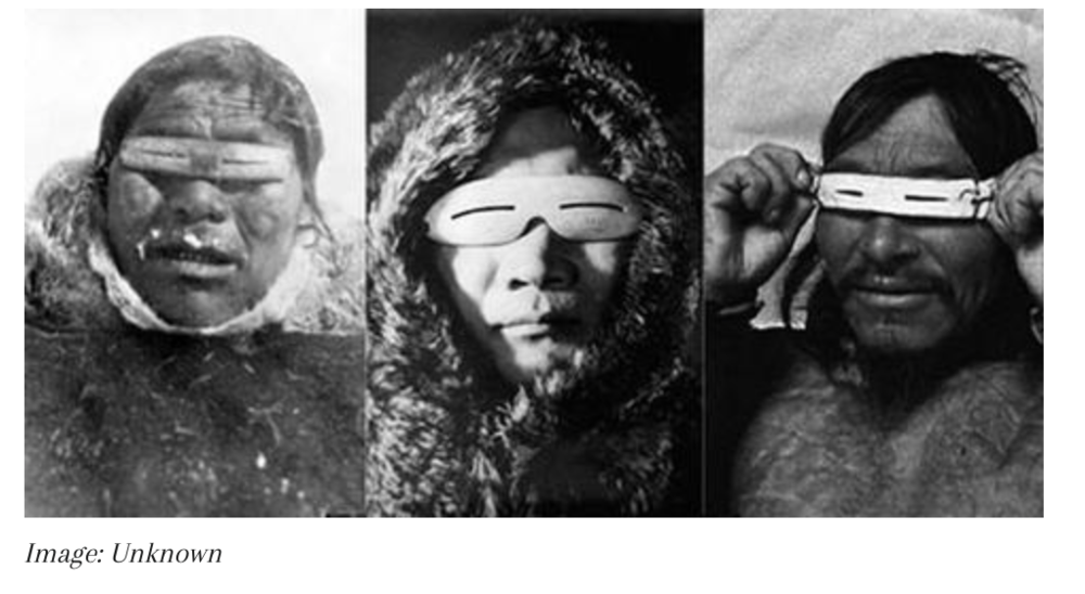 Inuit sunglasses;picture from sunglassmuseum.com