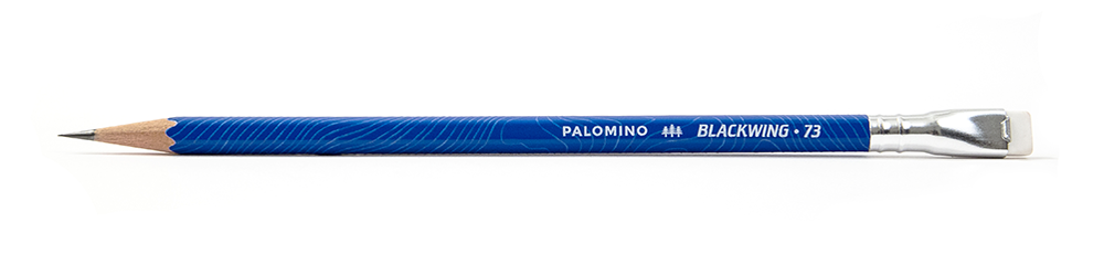 Blackwing 73 celebrates Lake Tahoe and other landmarks that have had a comparable impact on arts and society. Each pencil features a Tahoe blue finish and raised texture that mimics the lake's topography. The number 73 references Lake Tahoe's last measured Secchi depth of 73 feet. (as talen from Palomino website) PURCHASE IN STORE OR   ONLINE   .