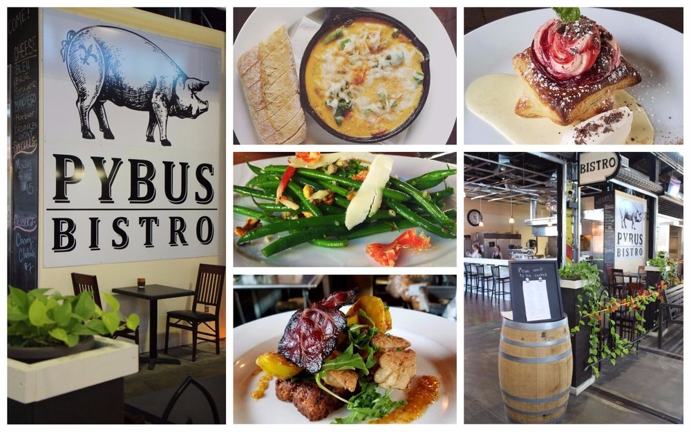 photo credit: Livingncw and Pybus Bistro Facebook