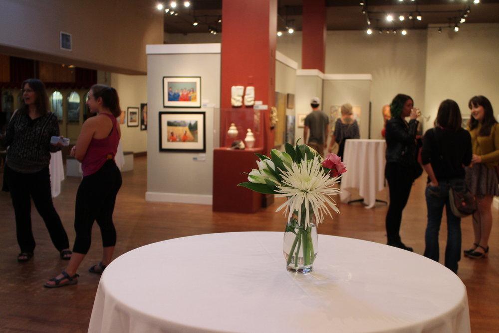 Art enthusiats at Wenatchee Museum & Cultural Center