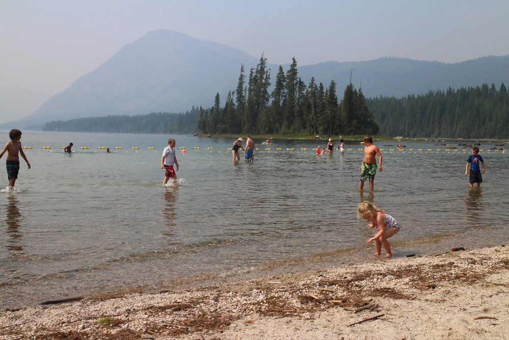 Lake Wenatchee State Park (sorry for hazy picture, it was due to fire smoke)