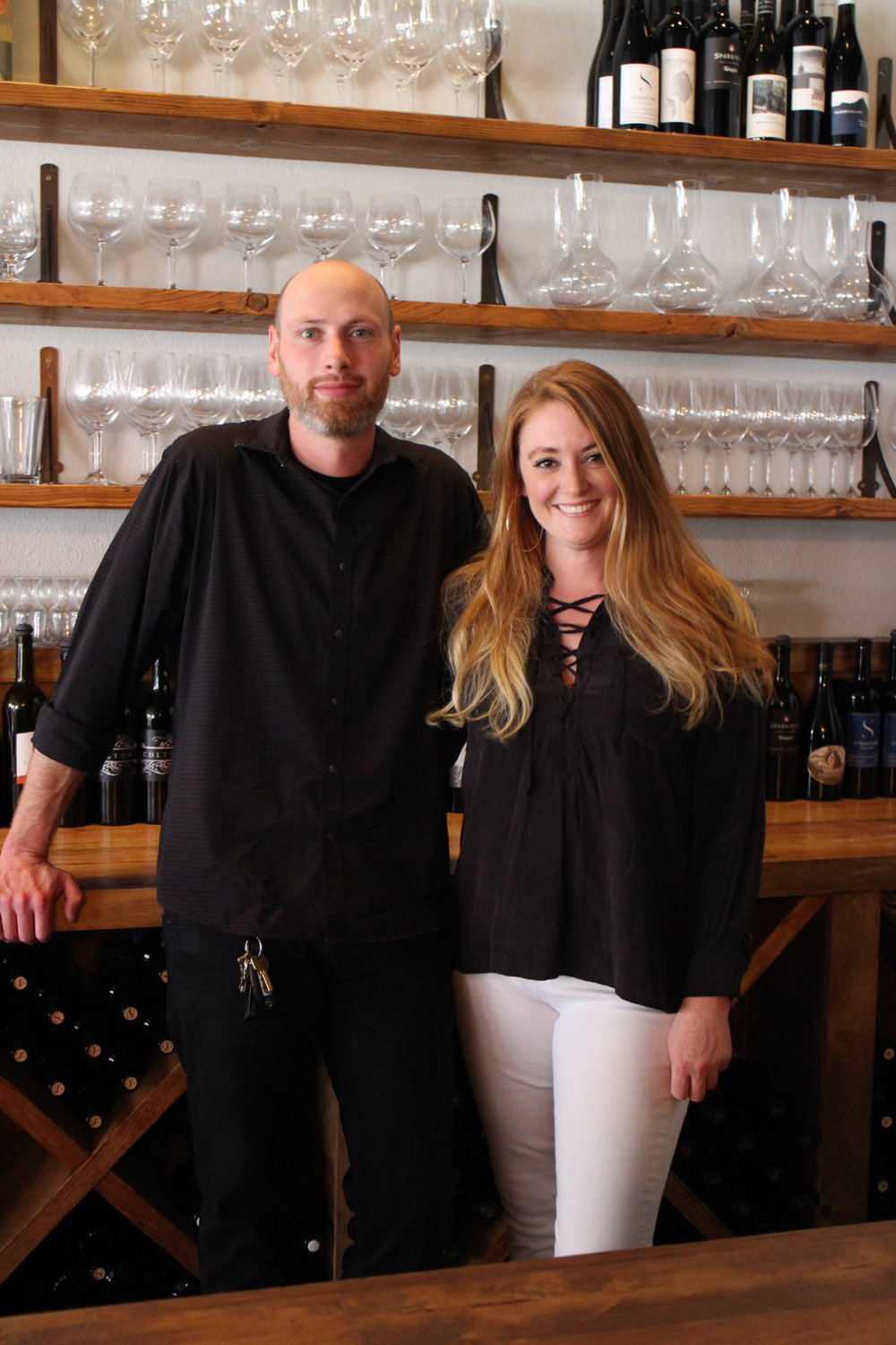 Owners of Norwood Wine Bar: Brother and sister, Joshua Thaut & Megan Collyer -