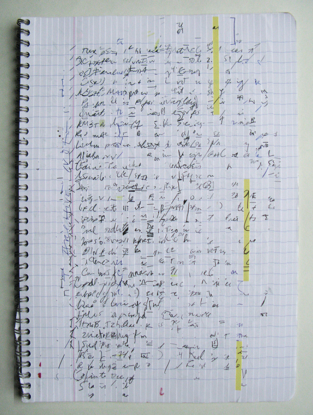 Consecutive,  2014              notebook, ink, pencil, marker    16 x 11½""