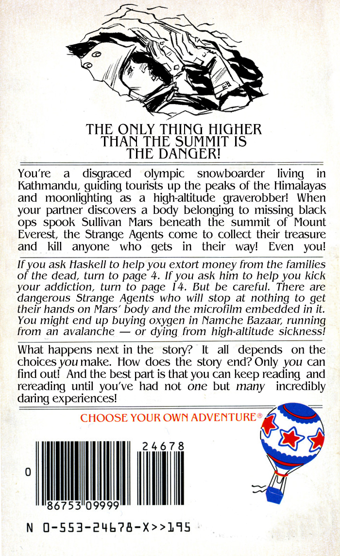 Choose Your Own Adventure (Back Cover)