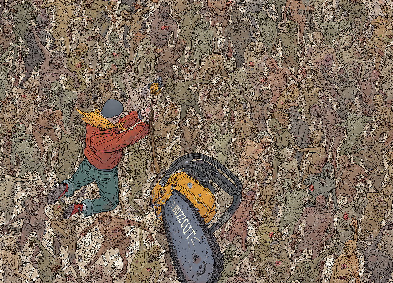 fuckallwhatever :      THE SHAOLIN COWBOY  (2004-?) by Geof Darrow