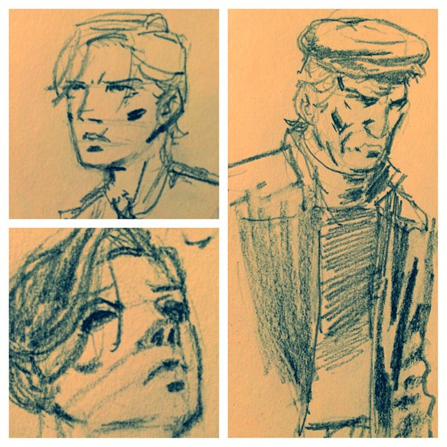 deadcrowcomics :     Late night drawing… #drawing #sketch #comics     reblogging for reasons