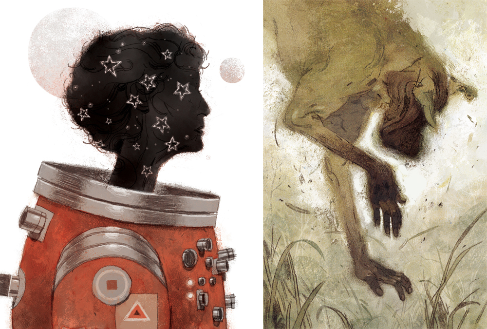 "richiepope :     So, I got two pieces accepted into this year's Society of Illustrators Annual, ""The Lady Astronaut of Mars"" and ""The Devil in America.""    WORD.    Thanks to Irene Gallo at Tor.com for being a cool-ass art director, too."