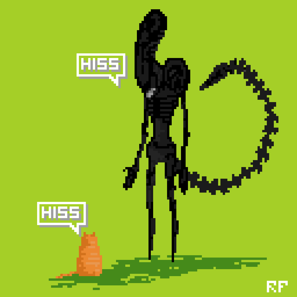 pixelcorrupter :     Alien vs Jonesy