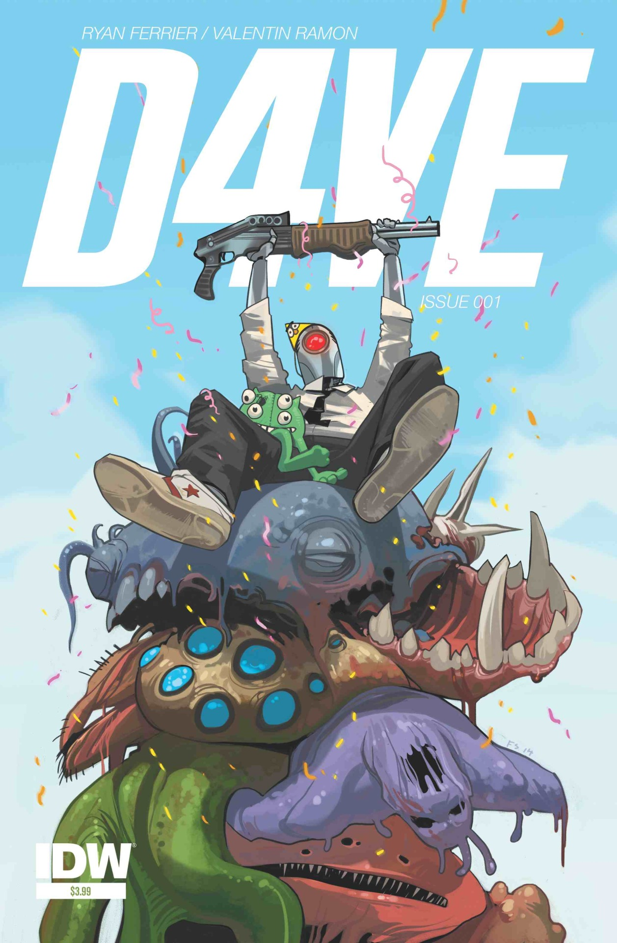 rferrier :     We can finally talk about it! Good news! Starting February, D4VE will be released in single monthly issues through the fine folks at IDW!   How freaking cool is this? And check out that amazing, amazing cover from the one and only, mega-talented Fiona Staples. Just a dream come true.   Valentin and I are beyond excited to have D4VE be part of IDW.  Check out the full press release here .   #Butthorn2015