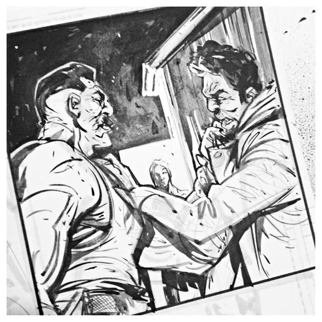 chrisvisions :     Panel's a wrap. #deskshot #deadletters #comics #likeiwasink