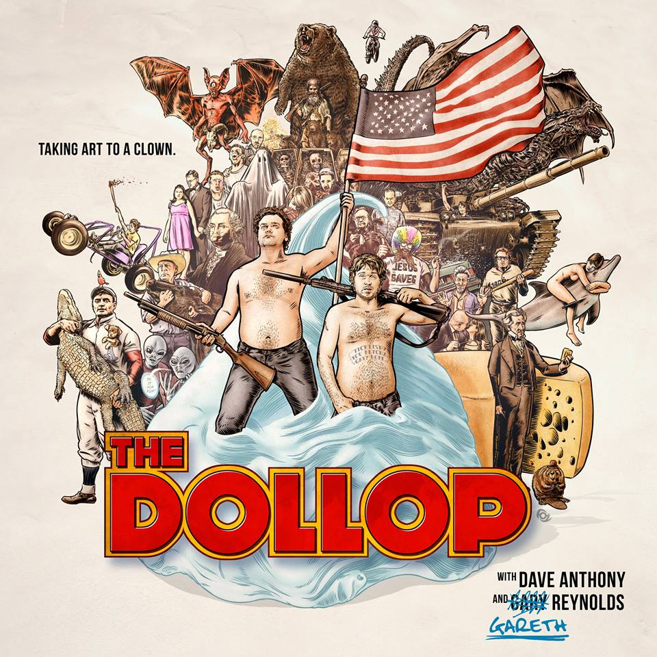 supervillain :      The Dollop  is the best. Poster by James Fosdike.