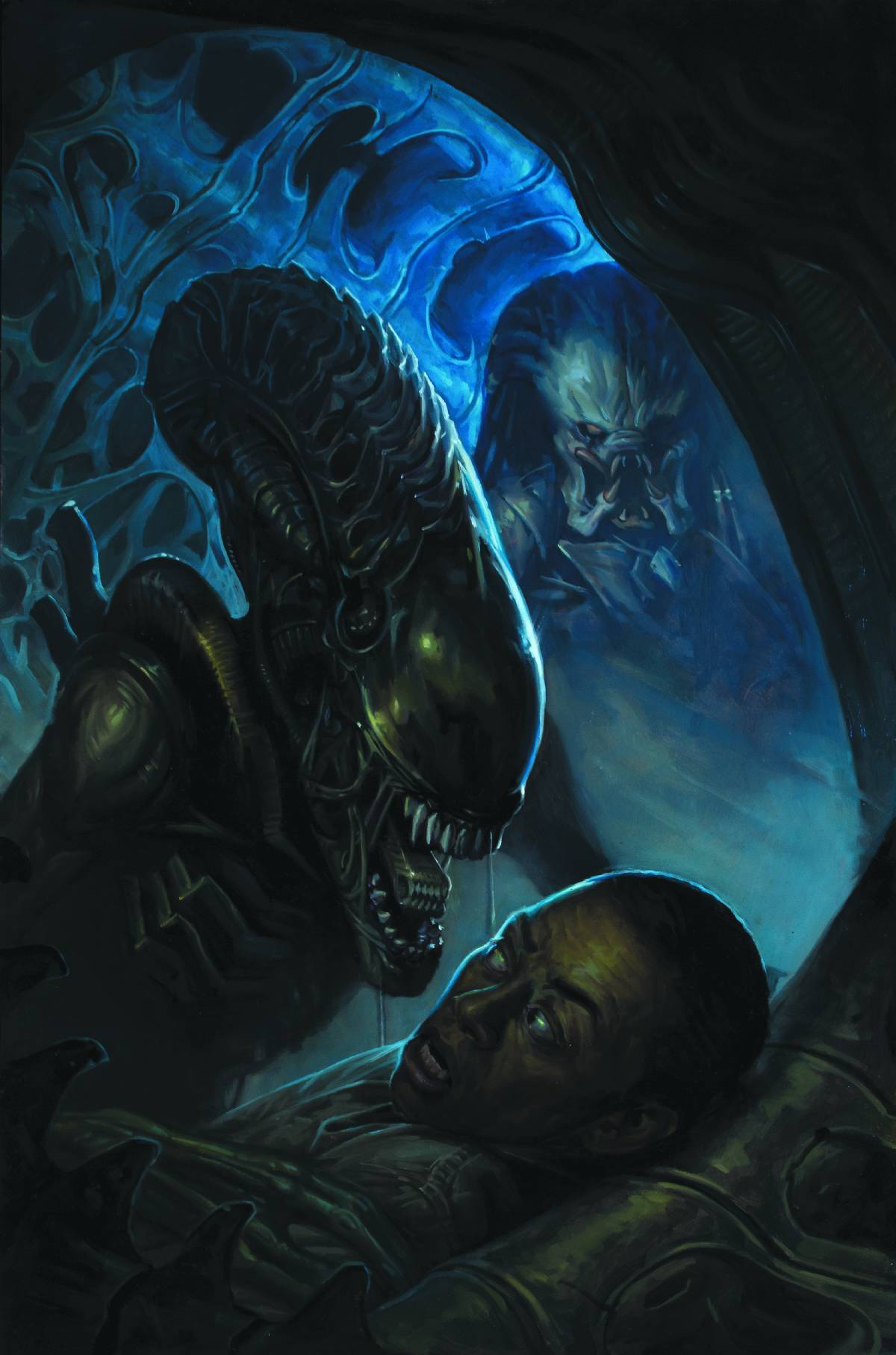 redskullsmadhouse :      Alien vs. Predator: Fire and Stone #2 (of 4)     Christopher Sebela (W), Ariel Olivetti (A), and E. M. Gist (Cover)