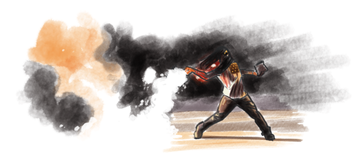 stevensanders :     Made a quick painting of my new American hero. #Ferguson
