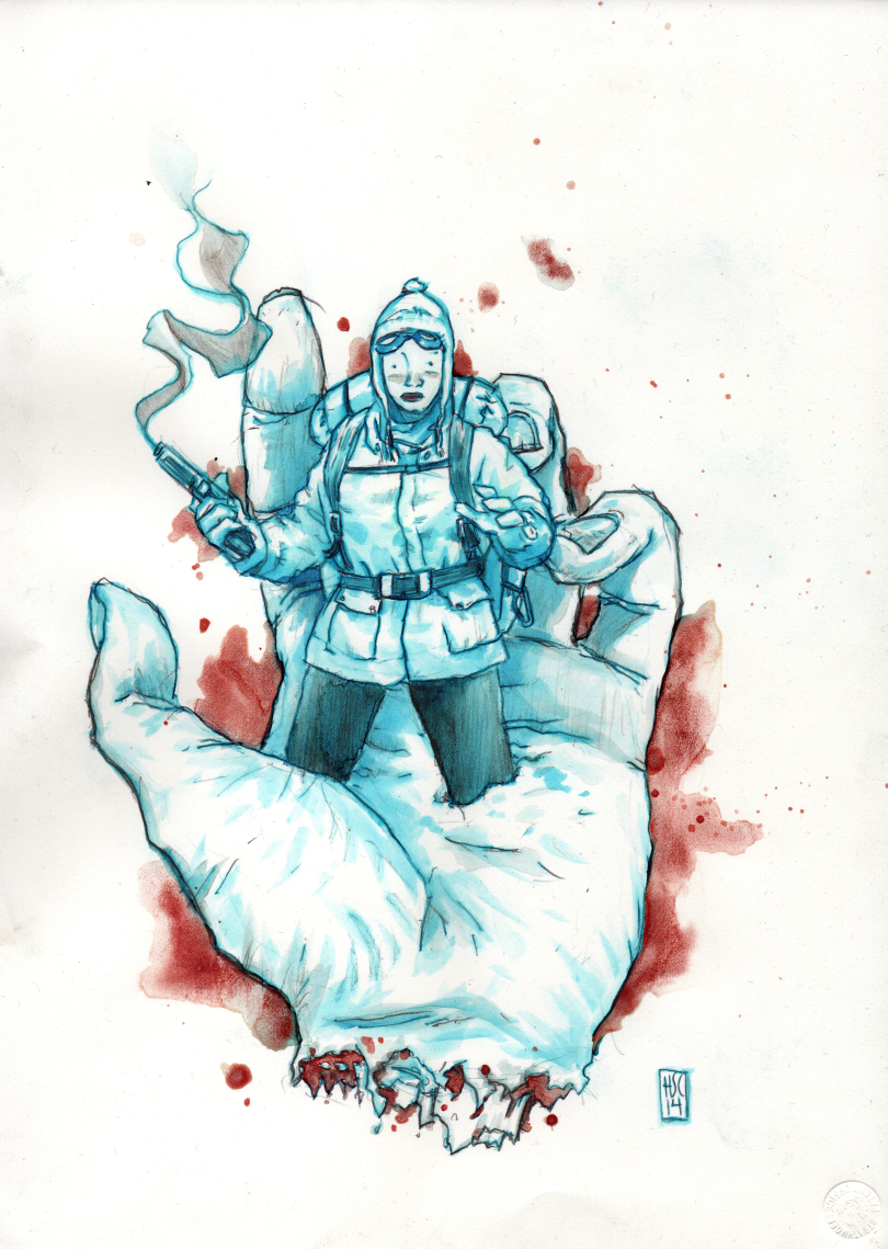highcrimescomic :      High Crimes  -  Hector Casanova    Besides this just being amazingly good, I'm excited to have new original Hector artwork in my hands.