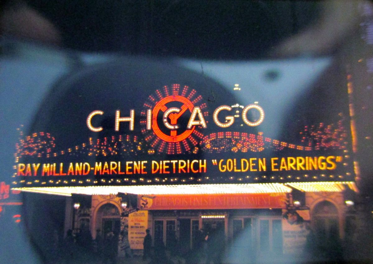 calumet412 :     The Chicago Theater marquee, 1947, Chicago.