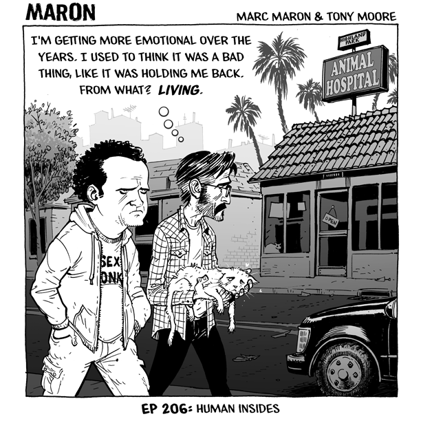 tonymoore: This is a comic about human insides, albeit a little different than the kind my name is usually on. You can find these weekly MARON recap strips on IFC. I hope you enjoy them Tony Moore draws a mean Dave Anthony