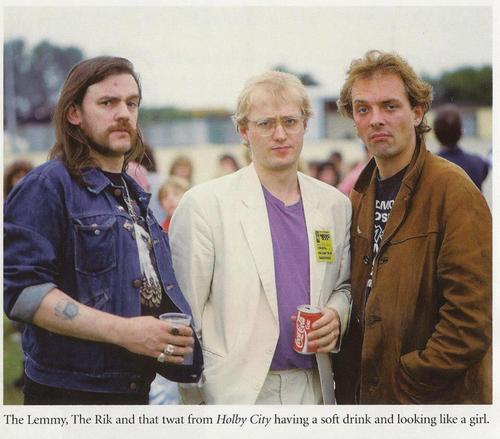 englishrose92 :     Lemmy with Rik and Ade <3 awww
