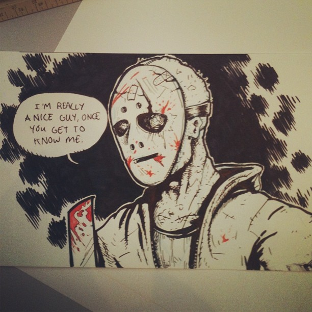 bustermoody :     Sold this old Midnight Slasher sketch from the Screamland days today. #spectrum #screamland #sfal2014