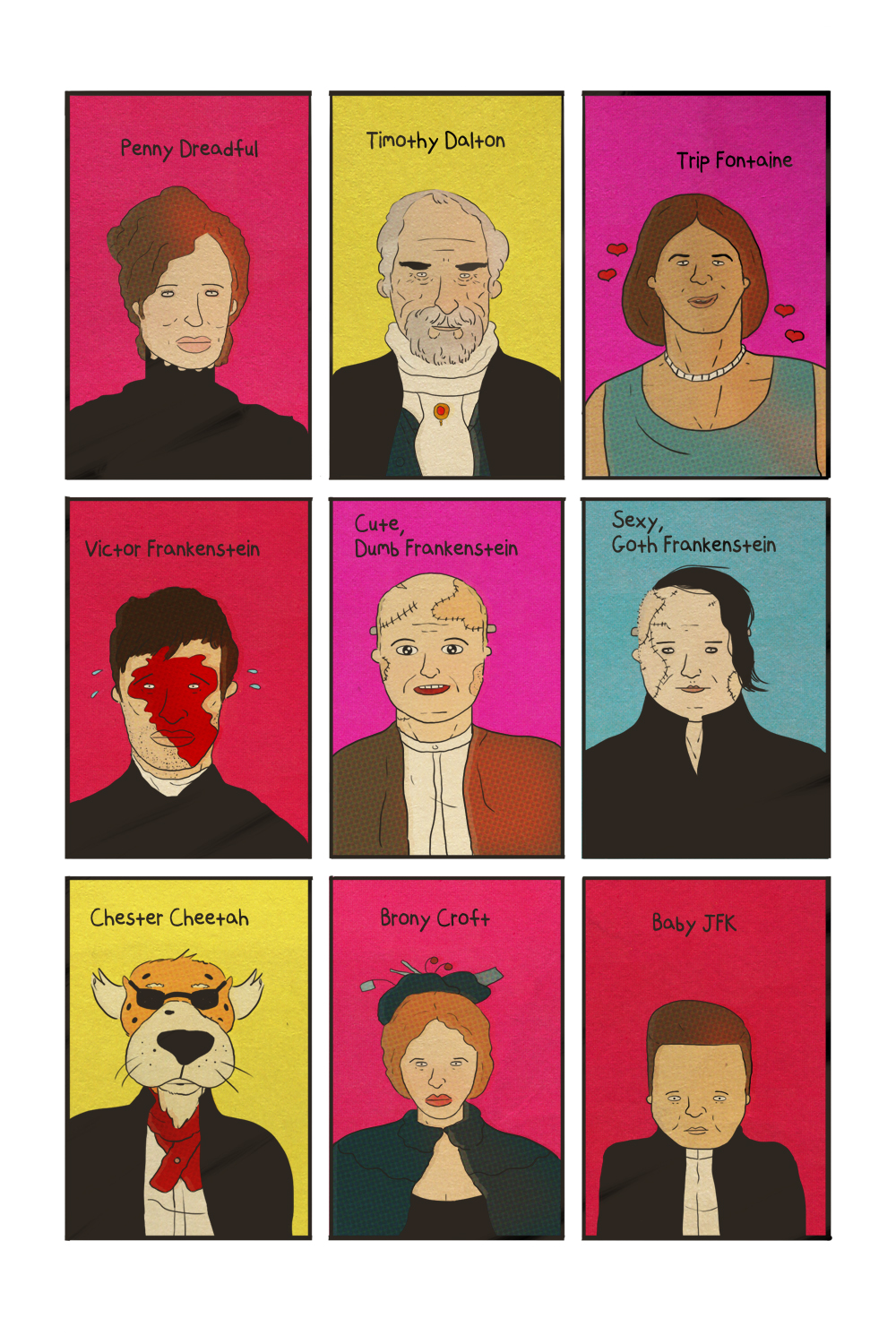 petetoms :     I drew the characters from PENNY DREADFUL.