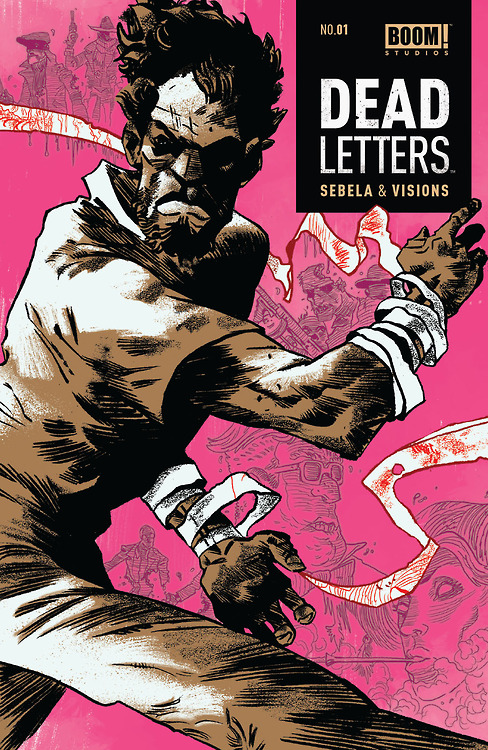 "deadletterscomic :      And now it's official:     'DEAD LETTERS' #1 SELLS OUT, BOOM! RUSHES TO A SECOND PRINTING    BOOM! Studios is pleased to announce that the debut issue of DEAD LETTERS, the supernatural noir series from breakout writer Christopher Sebela (Ghost, High Crimes) and dazzling newcomer artist Chris Visions, has sold out at the distributor level. The publisher has rushed to a second printing.   Comic book fans should bear in mind that first printings of DEAD LETTERS #1 may still be found at the local comic shop nearest you.   ""I'll be uncharacteristically brazen and just say this book is flat-out too good not to sell out,"" said BOOM! Studios Editor-in-Chief Matt Gagnon. ""We're so proud of this series. It reflects everything we love about making comics. DEAD LETTERS is an elevated, 4-color howitzer of genre fiction from two future stars who are showing us what their made of. This is what we strive for at BOOM!. And we're so happy retailers and readers have responded the way they have. Sam Whistler's story is just beginning. Nobody is prepared for what comes next.""   Praise for DEAD LETTERS #1:   ""First issues are tough. Good first issues are murder, are rare, are wonderful, and should be shouted about from the rooftops. DEAD LETTERS #1 is a GREAT first issue. And the hook on its first page is only surpassed by the hook on its last page. BOOM! might just have the next Preacher on its hands. Even better, they have the first DEAD LETTERS on their hands."" -  Matt Fraction    ""…it'll take you on a memorable ride, and leave you with a revelation that is sure to bring you back next month."" -  Comic Bastards    ""Just when you think you have an idea where everything is going, you get the rug pulled from beneath you."" -  Comic Vine    ""If Sebela and Visions can continue to masterfully collaborate with such surprising, inspiring and  hair-raising plots, there is no doubt this series will become a hit. 10 out of 10."" -  Comicosity    DEAD LETTERS #1 second print ships with a new cover by Artyom Trakhanov and carries a retail price of $3.99. It is anticipated to be on sale May 7."