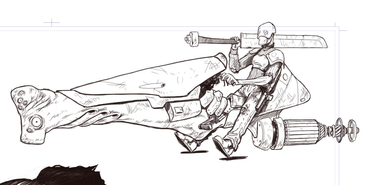 "stevensanders :     Bezrodnym death cult raider. <Cue Foghat's "" Slow Ride "" in bkg>"