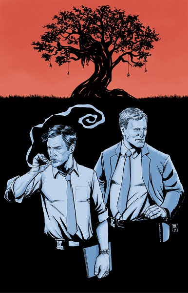 ibrahimmoustafa: Happy True Detective Sunday 11x17 print available here: http://theartofibrahimmoustafa.bigcartel.com/product/time-is-a-flat-circle Everything about this is great, but when Ibrahim pointed out to me that the tree is in the shape of Dora Lang's body, it got even greater.